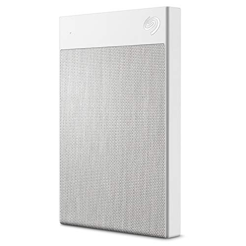 Seagate Backup Plus Ultra Touch 2TB External Hard Drive Portable HDD  White USB-C USB 3.0, 1yr Mylio Create, 2 months Adobe CC Photography, (STHH2000402)