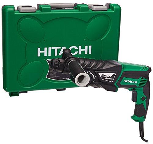 Hitachi DH26PC Rotomartillo SDS Plus, Estuche Plástico, 800 W VVR 0-1100 Rpm 0-4300 Gpm 03.2 J, 2.8 Kg