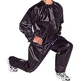 WBTY Saunaanzug, strapazierfähig, für Sauna, Fitness, Gewichtsverlust, Training, reißfest. Gr. XX-Large, Schwarz