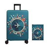 Cubierta de equipaje Funda de maleta 18-32 pulgadas de fibra de carbón de bambú cubierta de equipaje Poliéster equipaje de viaje cubierta de la caja protectora (color 2, M)