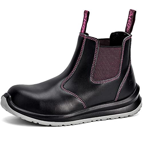 Safetoe Zapatos de Seguridad Mujer, M-8025FM Botas de...
