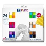 Staedtler FIMO Soft, Assortiment de 24 demi-pains de pâte FIMO aux couleurs...