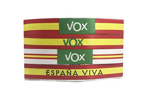 Tarja73   Pulsera de Tela con mensaje   VOX   Pack de 4 unid