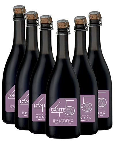 Bonarda Colli Piacentini Doc Secco Frizzante Dante 45 - confezione da 6 bottiglie
