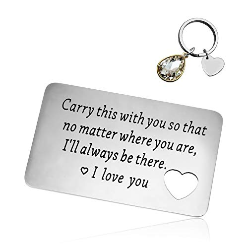 Engraved Wallet Card Inserts Keychain Set Anniversary Card...