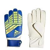 adidas Youth Predator Goalkeeper Glove, Football Blue/Bold Blue/Solar Yellow, Size 6