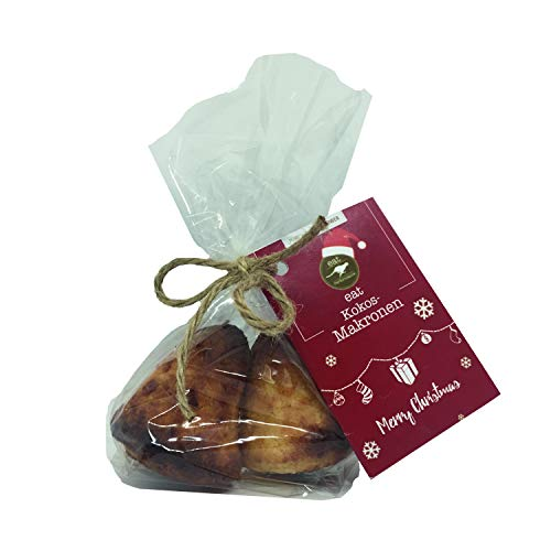 eat Performance® Paleo Kokos-Makronen (100g) - Bio, Paleo, Vegan, Weihnachtsprodukt, Glutenfrei, Laktosefrei, Kandierte Mandeln Aus 100% Natürlichen Bio Zutaten