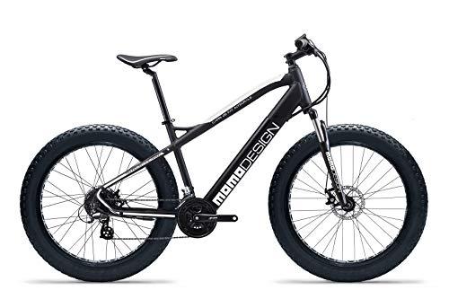 Momo, Bicicletta MD-E26MTBF-W CAPRI 26' Unisex adulto, nero e bianco, unica
