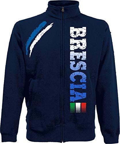 Generico Giacchino Brescia Tifosi Ultras Calcio Sport dalla S alla XXL e 4 Colori Disponibili(XL, Blu Navy)