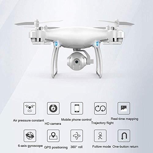 SILOLA Drone Pieghevole con videocamera per Adulti Fotografia Aerea HD WiFi 720P A Quattro Assi Altezza Fissa Velivolo Quadrato Drone RC Altitudine Tenere Facile Volare costante per l'apprendimento