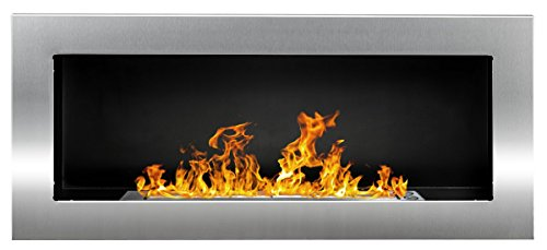 Bio Ethanol Fireplace Modern 900 x 400 Stainless steel