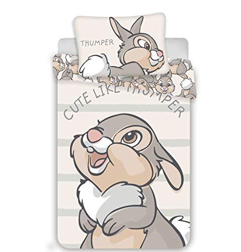 Disney Bambi - Set di biancheria da letto, 2 pezzi Dimensioni: : 100 x 135 cm, 40 x 60 cm, 100%...