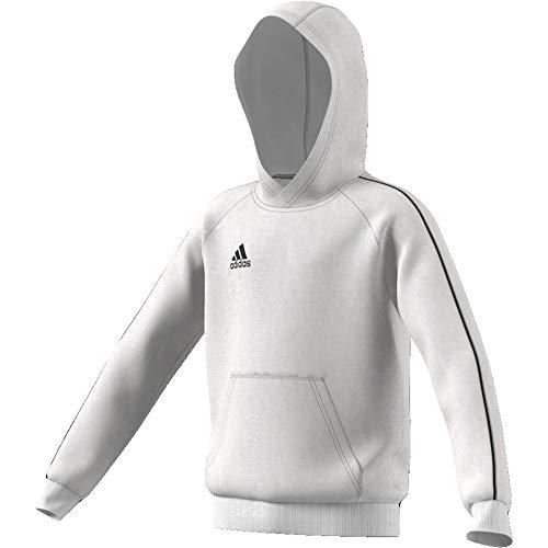 adidas Core 18 Hoody Felpa con Cappuccio, Bambino, White/Black, 152