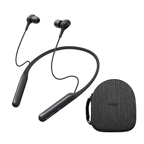 Sony WI-C600N Wireless Noise-Canceling in-Ear Headphones (Black) with Hardshell Travel Case Bundle