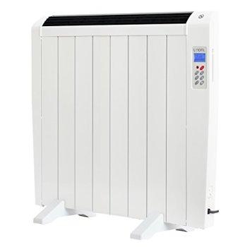 Lodel RA8 - Emisor Térmico Digital Bajo Consumo, 1200 de Potencia, 8 Elementos, Programable, Diseño Ultrafino y Ligero