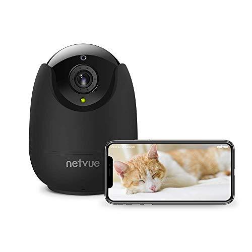 NETVUE Telecamera di Sorveglianza WiFi,1080P videocamera sorveglianza Interno WiFi con Visione Notturna,Telecamera WiFi con Audio Bidirezionale,Compatibile con Alexa.