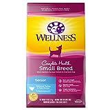 Wellness Complete Health Small Breed Senior Dry Dog Food with Grains, Turkey & Peas, 4-Pound Bag
