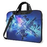 Bolsa de hombro para portátil de 13 pulgadas, color azul abstracto