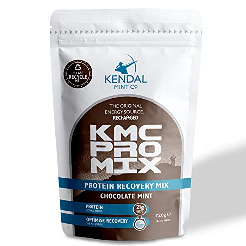 Whey Protein Powder | KMC PRO Mix Fast & Effective Recovery | 21g Protein/Serve | 100% Recyclable Bag (Delicious Chocolate Mint, 720g / 18 Serves)