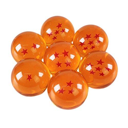 Katara 1737 Set Dragon Ball Z Confezione Regalo, 7 Sfere del Drago Cristallo Arancione