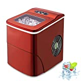 AGLUCKY Counter top Ice Maker Machine,Compact Automatic Ice Maker,9 Cubes Ready in 6-8 Minutes,Portable Ice Cube Maker with Ice Scoop and Basket