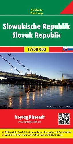 Eslovaquia, mapa de carreteras. Escala 1:200.000. Freytag & Berndt.: Wegenkaart 1:200 000 (Auto kart