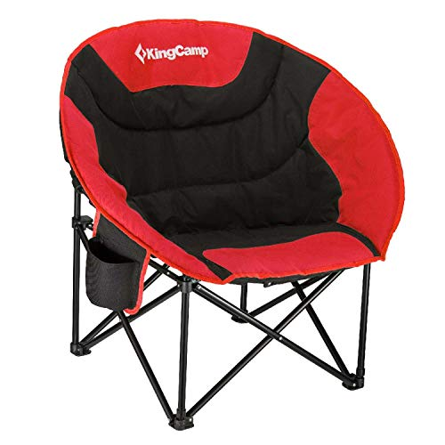 KingCamp Camping Chair Moon Round Saucer Chair Folding...