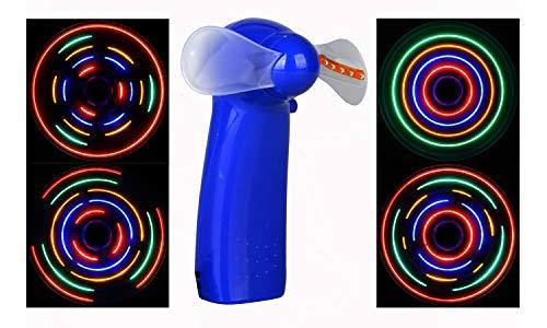WecanLight Tragbarer Ventilator, leuchtende Farben, LED, Handventilator Portable Fan