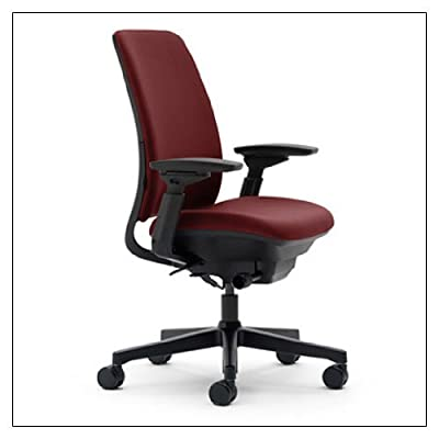 """* Rectilinear independent height-, width-, pivot-, and depth adjustable arms and soft arm caps * 5"""" pneumatic seat-height adjustment * 3"""" seat depth adjustment * Synchro-tilt mechanism * Adjustable lumbar * Upright back lock 21.75-24.75d x 26.625w x ..."""