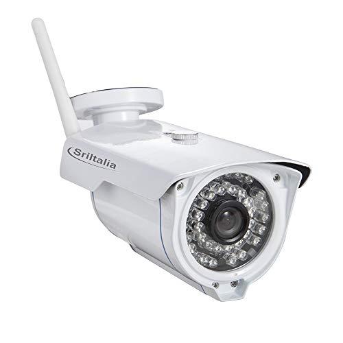 Sricam SP007 -S Telecamera di Videosorveglianza Wireless, Bianco, 16,5 x 7,2 x 8,3 cm app Srihome 3 Mp