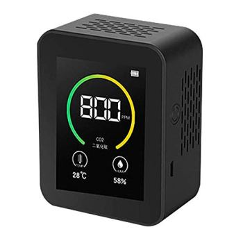 Détecteur de gaz CO2, compteur de qualité de l'air de compteur de CO2 TOPQSC, plage de mesure du détecteur 400-5000 PPM testeur d'air intelligent avec affichage