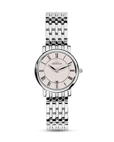 Michel Herbelin Unisex Erwachsene Analog Uhr mit Edelstahl Armband 16945/B01