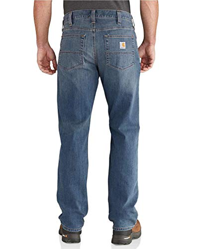 Carhartt Rugged Flex Relaxed Straight Jeans Jeans, Uomo, Blu, 34W / 34L