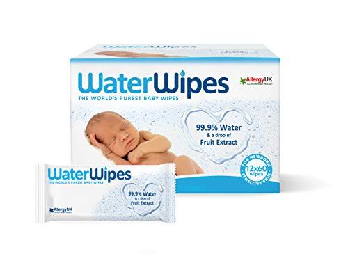 WaterWipes Toallitas para Pieles Sensible de Bebé, 99.9% ag