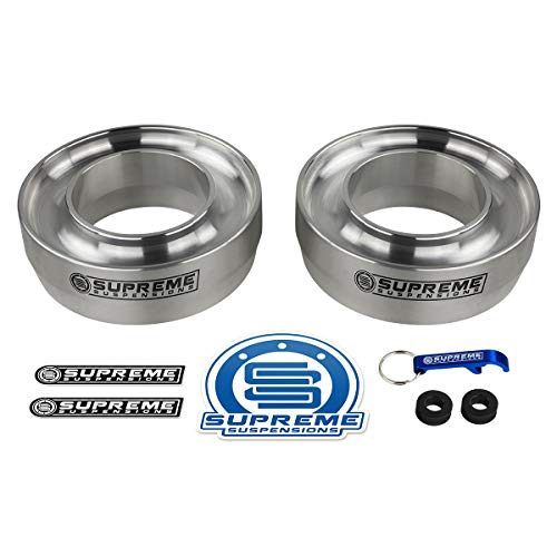 Supreme Suspensions - Front Leveling Kit for 1994-2018 Dodge Ram 1500 3' Front Lift Spring Spacers 2WD (Silver)