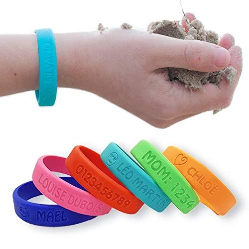 Bracelet identification SOS personnalisable - Bienmarquer, en silicone,...