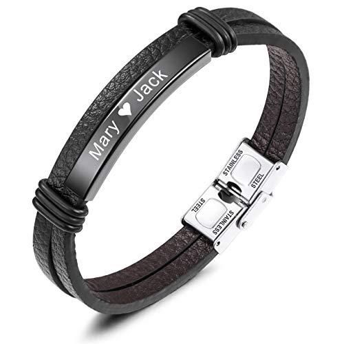 MeMeDIY Name Armband Personalisierte Armbänder für Frauen Armbänder für Jungen Männer Mädchen...