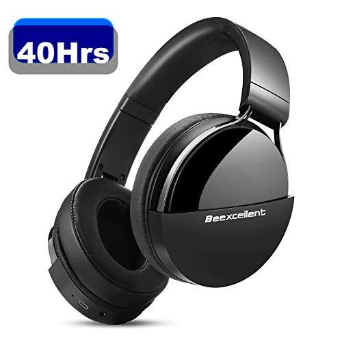 Beexcellent Cuffie Wireless Bluetooth, Cuffie Over Ear Audio ad Alta fedeltà 40 Ore Bluetooth 5.0 Cuffie da Studio Senza Fili Pieghevoli con Microfono Cuffie DJ Chiuse per TV iPhone Huawei Samsung