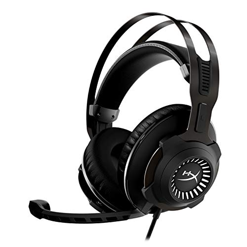 HyperX Cloud Revolver – Gaming-Headset mit HyperX 7.1 Surround Sound, legendärem Memory-Schaum, hochwertigem Kunstleder, Stahlrahmen und abnehmbarem Mikrofon mit Rauschunterdrückung