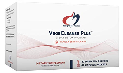 Designs for Health VegeCleanse Plus 21 Day Detox Program - Promotes Healthy Liver Function + Metabolic Cleanse with Antioxidants + Herbs, Vegetarian (42 Protein Powder Drink Mixes + 42 Vitamin Packs) 1
