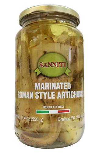 Sanniti Marinated Roman Style Artichokes With Stem, 19.4 Ounce Jar