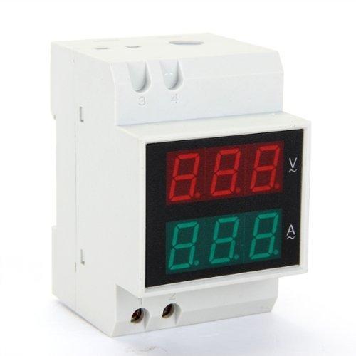 AC Voltmetro Amperometro Misuratore 0,2-99,9A 80-300V Display LED Digitale