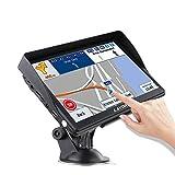 LAYDRAN Sistema de navegación GPS para camión, portátil, satélite, de 7 pulgadas, con cámara de...