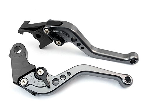 Keewor CNC Adjustable Short Brake Clutch Levers for Kawasaki ZX1100 / ZX-11 1990-2001 ZX7R / ZX7RR 1989-2003 ZX9 1994-1997 ZRX1100 / 1200 1999-2007 ZZR1200 2002-2005 ZG1000 CONCOURS 1992-2006 Gray