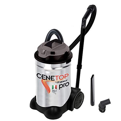 Ribimex Aspiracenere professionale 'CENETOP PRO' 1200 W 30 L con pulizia automatica filtro