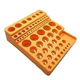 YBB-YB LXX-LX Amarillo plástico del Soporte Caja vacía Taladro Junta Caja de Almacenamiento for 70 Piezas. Accesorios de informática