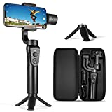 3-Axis Gimbal Stabilizer for iPhone 12 11 Pro XS Max XR X 8 Plus 7 6 SE Android Smartphone, with...
