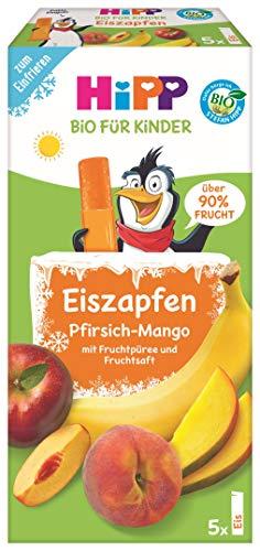 Hipp Kinder Dessert, Eis-Zapfen Bio Pfirsich-Mango, 5er Pack (5 x 5 x 30 ml)