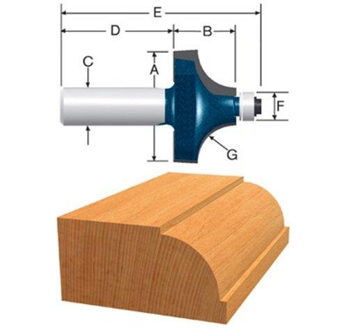 Bosch 85496MC 1-1/4-Inch Diameter 23/32-Inch Cut Carbide Tipped Beading Router Bit 1/4-Inch Shank With Ball Bearing