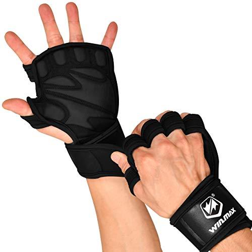 WIN.MAX Fitness Guanti, Guanti da allenamento per uomo e donna con poggiapolsi e protezione per il...